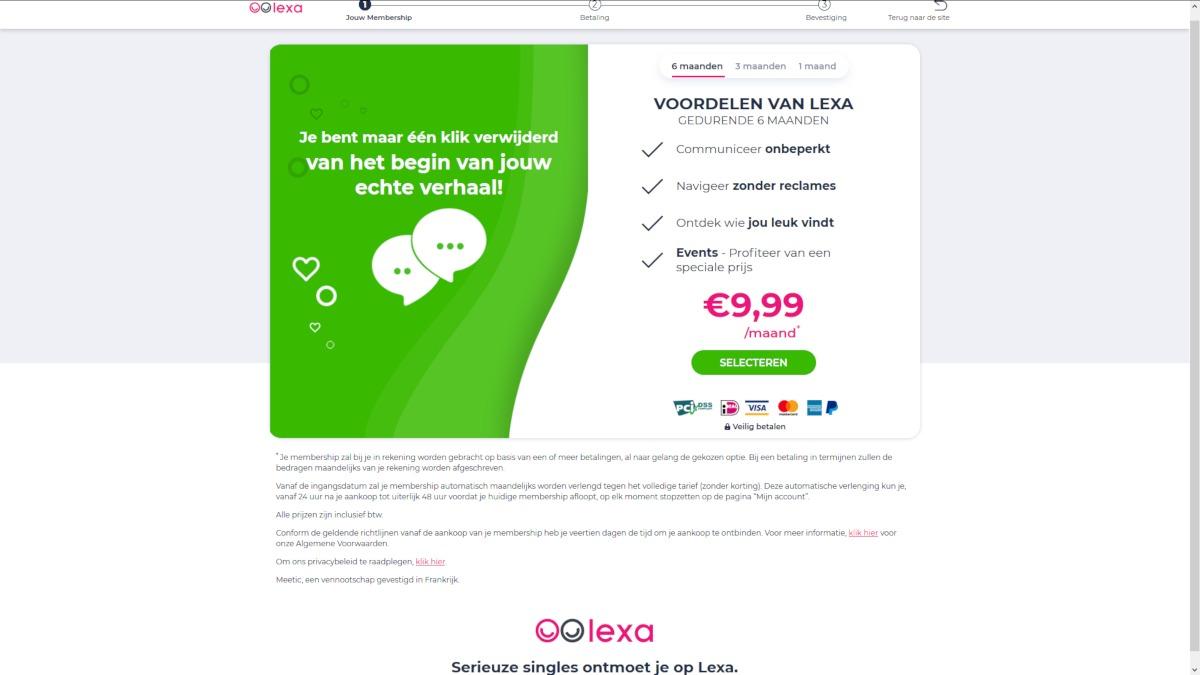 Kosten datingsite lexa